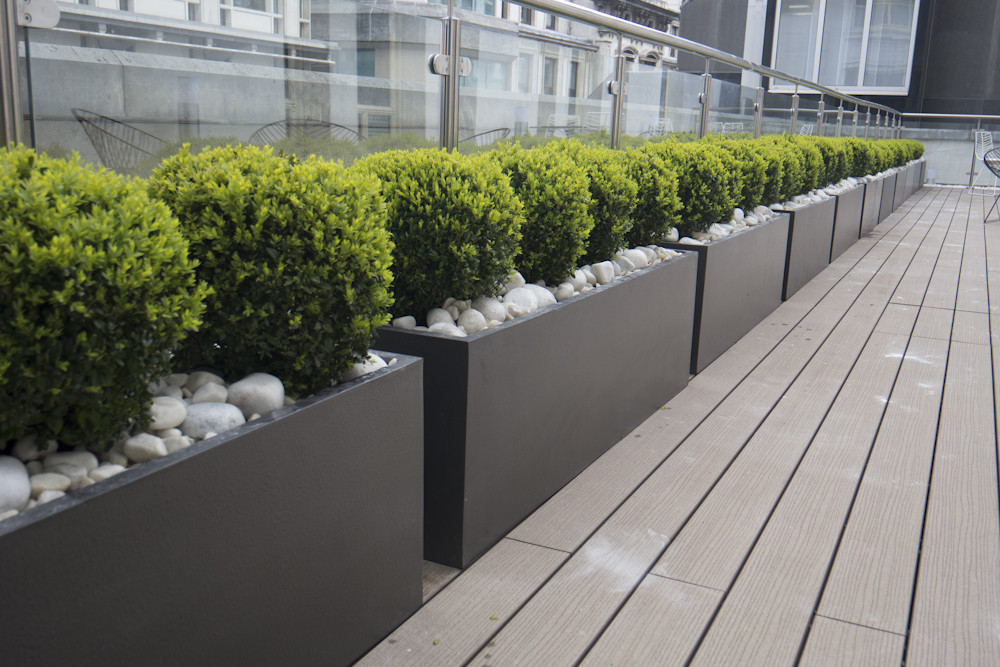 Balcony planters at nasdaq omx covent garden plants diary for Balcony planters