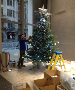 Christmas trees - London offices